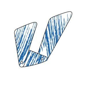 Lettera U blu