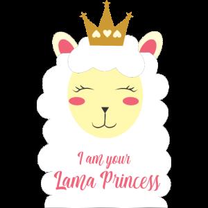 I am your Lama Princess - Llama - Krone