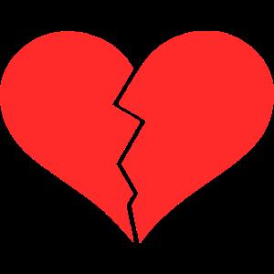 Herz zerbrochen Liebeskummer