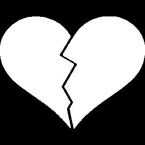 Herz zerbrochen Liebeskummer weiß