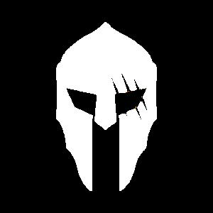 Spartan design Helm weiss