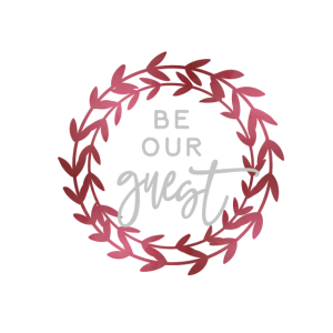 be our guest wreath