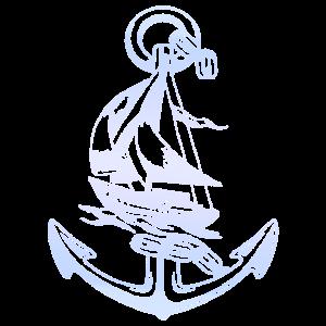 Cooles Anker Segelboot Design