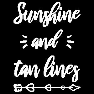 Der Sonnenschein und die Sonnenbräune der Frauen zeichnen Sommerferien Beac