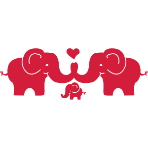 Elephants in Love with Baby - verliebte Elefanten