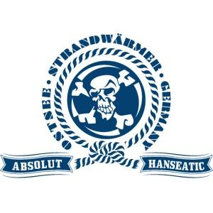 StrandWärmer Absolut Hanseatic Skull Blau