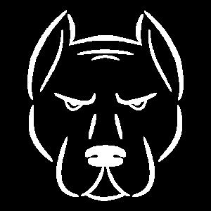 Silhouette Hundekopf weiss