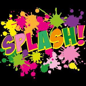 11 Splash bunte Spritzer Pop Art