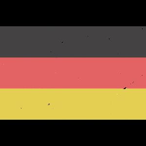 Deutschlandfahne verkratzt Vintage Retro Flagge