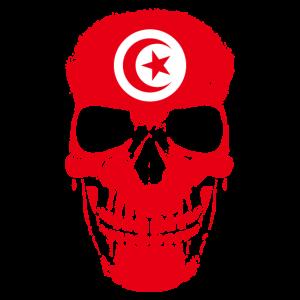 Tunesien Country Flagge Totenkopf