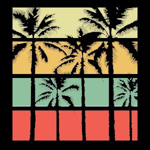 Summer Vintage Retro Palmen