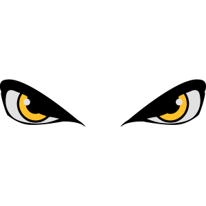 Augen gefährlich böse