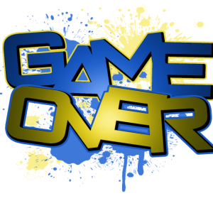 Game Over / Farbklekse Gamer Abstract