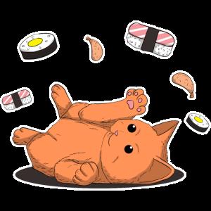 Sushi Cat Katze Japan