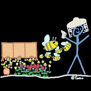 Imker Strichmännchen Biene Honig Maya Willy Job