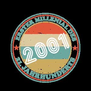 18. Geburtstag Geboren 2001 Erster Millenial
