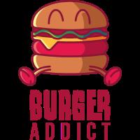 Burger Süchtig, geschenk fast food essen hamburger