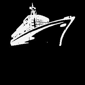 Kreuzfahrt T-Shirt Kreuzfahrtschiff blau