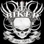Biker Skull im Tattoo style