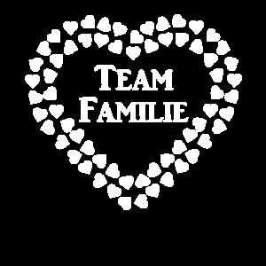 Team Familie in Herz Familien und Freunde Shirts