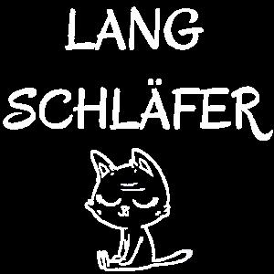Langschlaefer Spätaufsteher Schlafmütze Katze