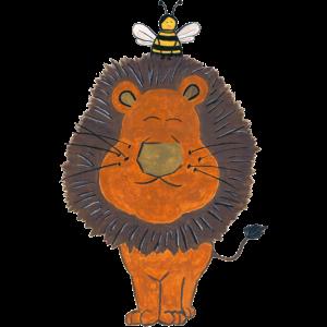 Löwe und Biene Tiermotiv Tierliebe Freundschaft