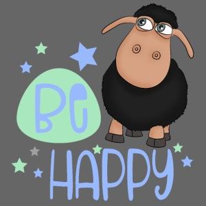 Schwarzes Schaf - Be happy Schaf - Glücksbringer