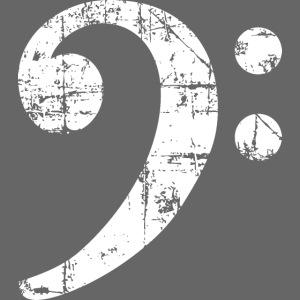Bassschlüssel Vintage Bassisten Design (Weiß)