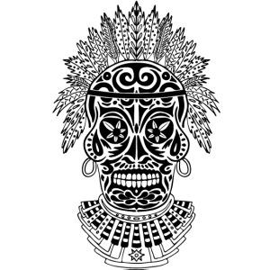 Black shaman skull