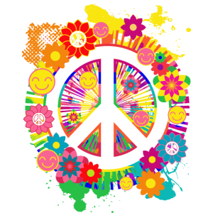 Friedenszeichen Hippie 70er Geschenkartikel