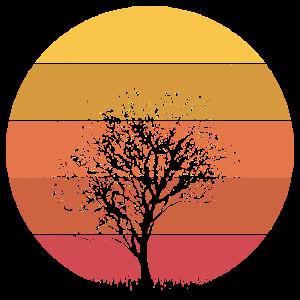 Natur Baum Mutter Erde Vintage Geschenk