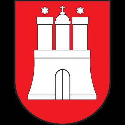 Hamburg - Hamburg - Wappen,St  Pauli,Hansestadt,Hamburg,Flagge,Fahne,Elbe,Deutschland,Burg,Bundesland