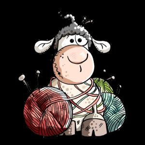 Lustiges Schafwollknäuel - Schafe
