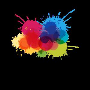 buntes Muster | buntes farbiges Klecksgeschenk