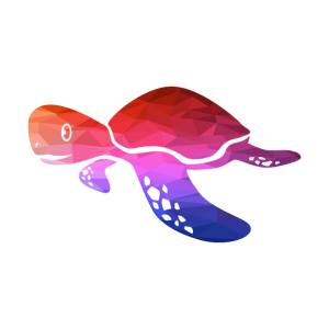 Geometrisches Tier Geometric Animal Schildkröte