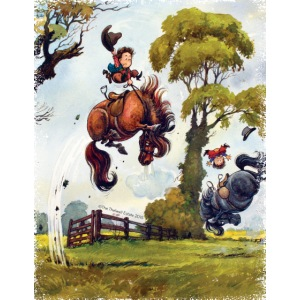 PonyRodeo Thelwell Cartoon fransig