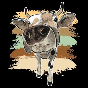 Kuh Rind lustiges Tier Vegan Humor lachen