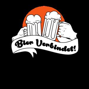 Bier Verbindet Kneipentour Biertrinker Geschenk