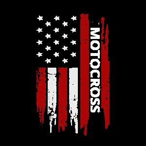 Motocross American USA Flag Dirt Bike Racing