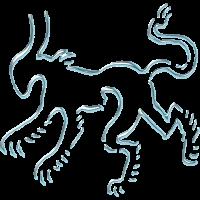 Drache- Wappen / Metall- Raubtier