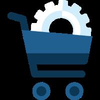 Einkaufswagen mit Zahnrad