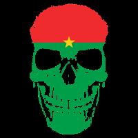 Burkina Faso Flagge Totenkopf