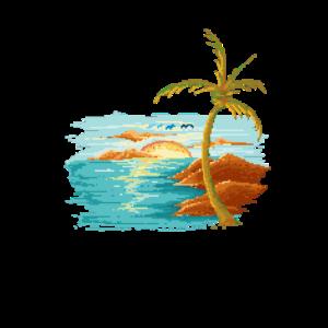Beautiful Sunset Sommer Insel Geschenk Bestseller