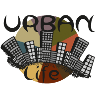 Urban life schwarze schrift