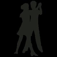 Silhouette tanzendes Paar
