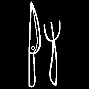 Messer und Gabel Besteck Zeichnung