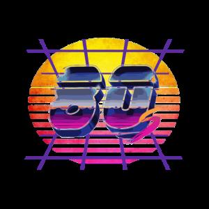 Synthwave 80er Jahre Design