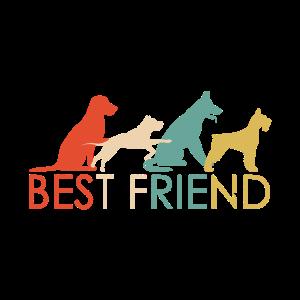 Best Friend Hunde Schriftzug Hunderassen
