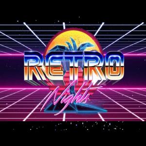 Synthwave 80er Jahre Design Retro
