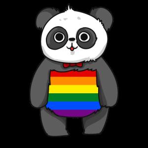 LGBT Panda Gay Pride Shirt Geschenk Schwul